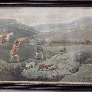"ANTIQUE ENGRAVING ""HUNTING"" 1"
