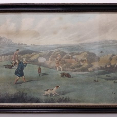 "ANTIQUE ENGRAVING ""HUNTING"" 2"