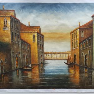 DAVID JONES LARGE OIL PAINTING – VENICE