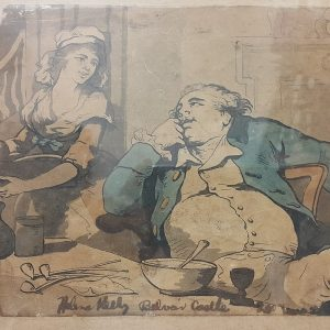 THOMAS ROWLANDSON – CARICATURE FROM BEVOIR CASTLE