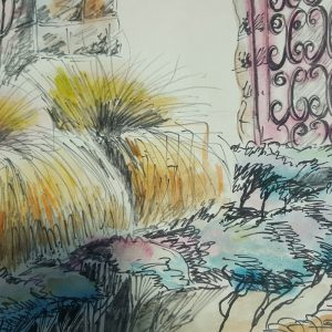 BARBARA BLACKMORE FOWLER –  WATERCOLOUR & PEN