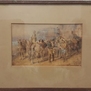 E. HULL – CIRCA 1860 WATERCOLOUR FROM ENGLAND