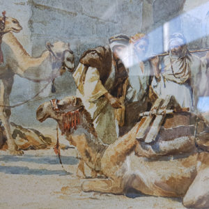 TONY BINDER – CARAVAN RESTING AT THE GATES – JERUSALEM